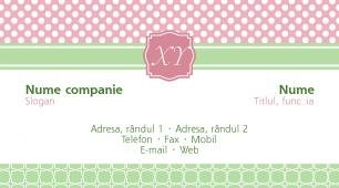 #027850 model carte de vizită monogram