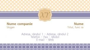 #087760 model carte de vizită monogram