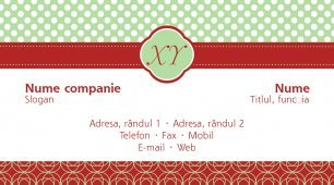 #101294 model carte de vizită monogram