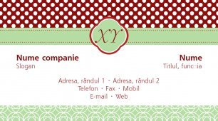#504369 model carte de vizită monogram