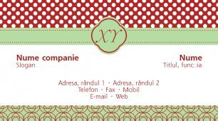 #980131 model carte de vizită monogram